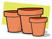 Terra Cotta Pots — Stock Photo
