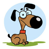 Dog Cartoon Illustration — Stock Photo