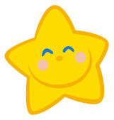 Smiling Little Star Cartoon Character — Stock Photo