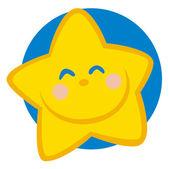 Ler stjärna seriefigur — Stockfoto