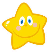 Friendly Yellow Star Face — Stock Photo