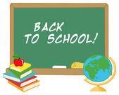 Desk Globe By A Back To School Chalk Board — Stock Photo