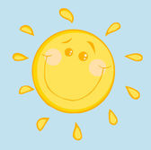 Happy Sun With A Smile — Stock Photo