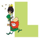 Letter L With A Leprechaun — Stock fotografie