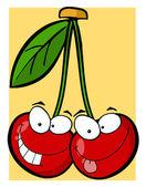 Twee cherry tekens — Stockfoto