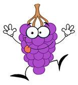 Personagem de uva roxa feliz — Fotografia Stock