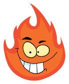 Flamme-cartoon-figur — Stockfoto