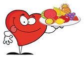 Heart Carrying A Fruit — Stock Photo