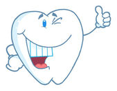 Happy Smiling Tooth Cartoon Mascot Character — Stock Photo