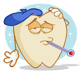 Tooth Decay Cartoon Character — Stock Photo