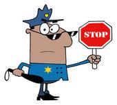 Afryki amerykański funkcjonariusz policji — Zdjęcie stockowe