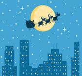 Happy Christmas Night — Stock Photo