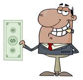 Businessman Shows Big Dollar — Stock Photo