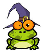 Frog With A Witch Hat — Stock Photo
