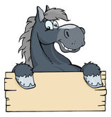 Cartoon Horse Label — Stock Photo