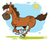 Galloping Cartoon Horse — Stock Photo