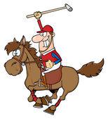 Illustration de polo polo player — Photo