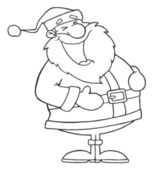 Outlined Laughs Santa — Stock Photo