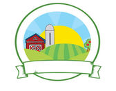 Country Farm Banner — Stock Photo