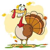 Turkey Cartoon Character — Stock Photo