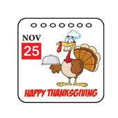 Thanksgiving Holiday Cartoon Calendar — Stock Photo