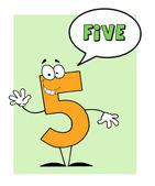 5 号五个家伙与语音泡沫 — 图库照片