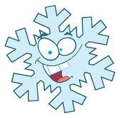 Kar tanesi karikatür karakter — Stok fotoğraf
