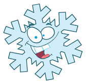 Snowflake Cartoon Character — Stock Photo