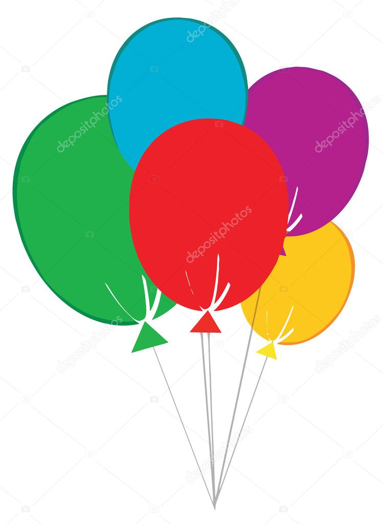 Group Of Happy Balloons  Stock Photo #4723961