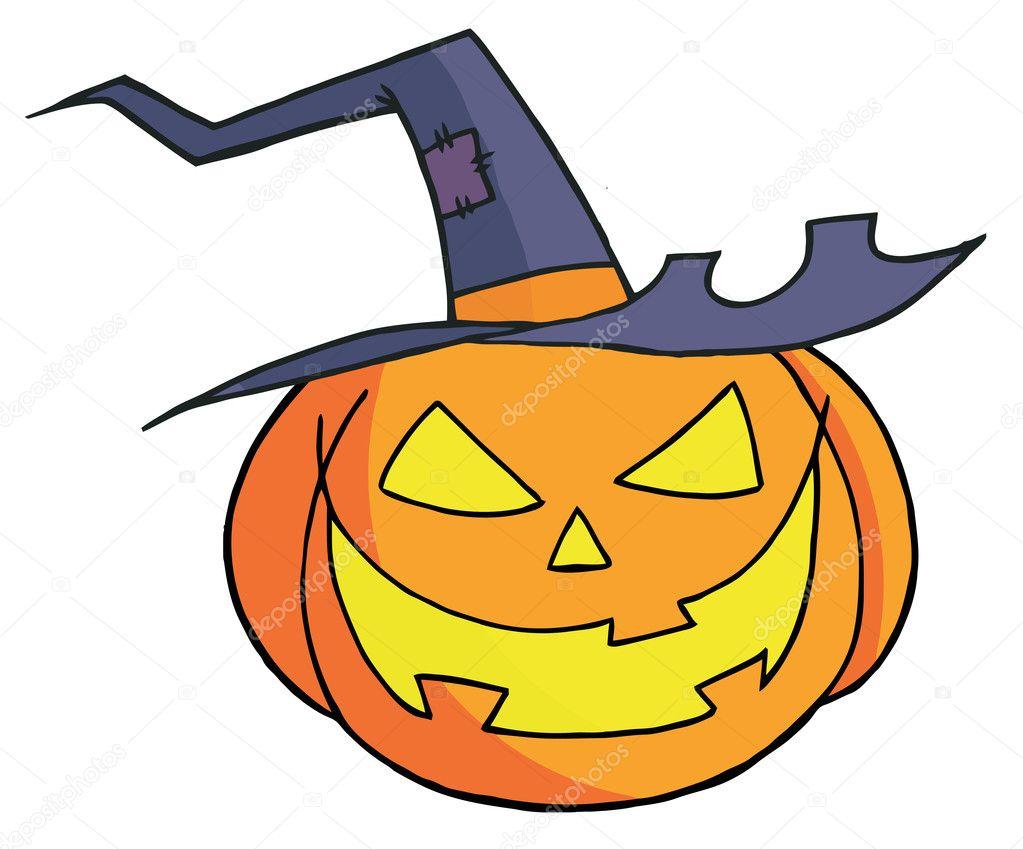 Dibujos animados de calabaza de halloween foto de stock for Calabaza halloween dibujo