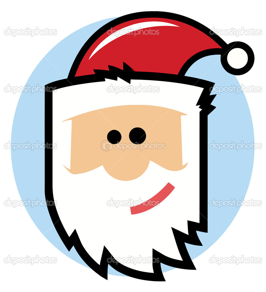 Cartoon Santa Face — Stock Photo © HitToon #4724828