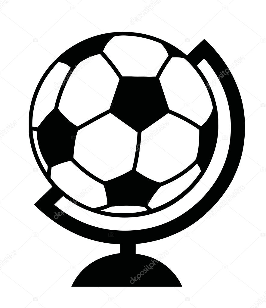 Black And White Soccer Ball Desk Globe  — Stock Photo #4725169