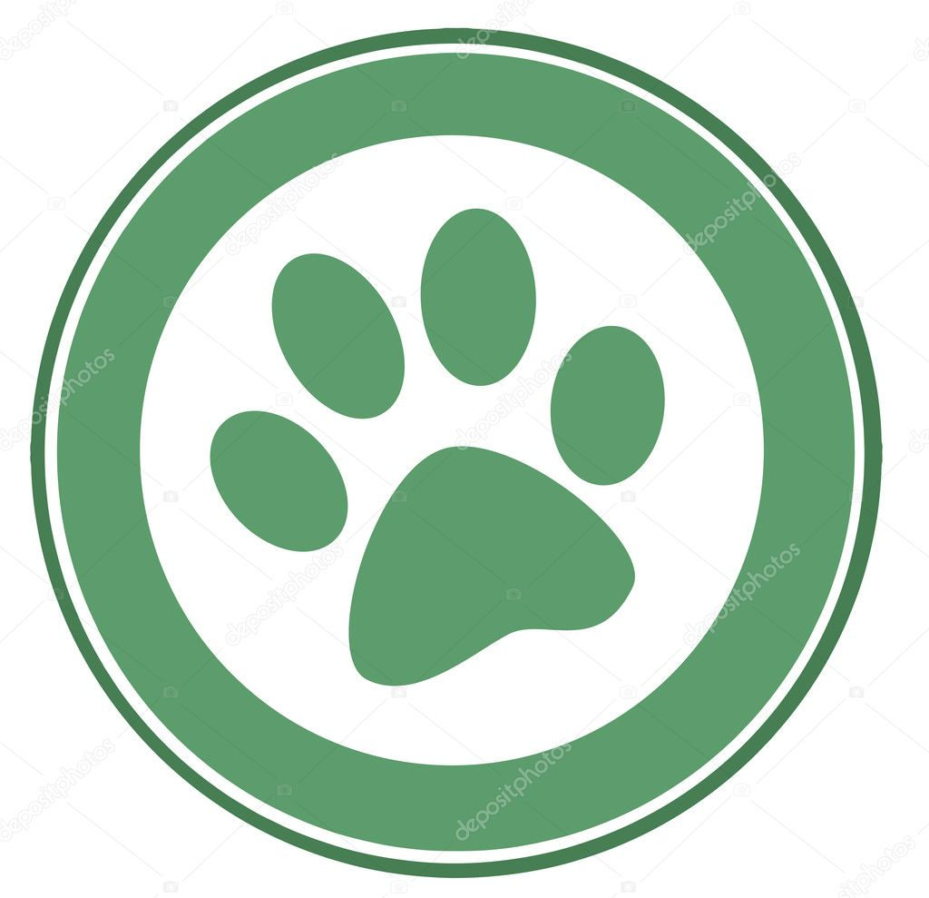 Green Paw Print Banner — Stock Photo #4725529