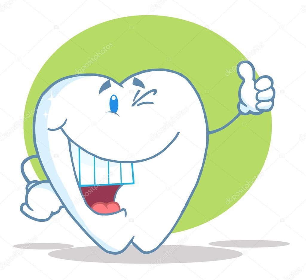 快乐微笑牙齿卡通人物