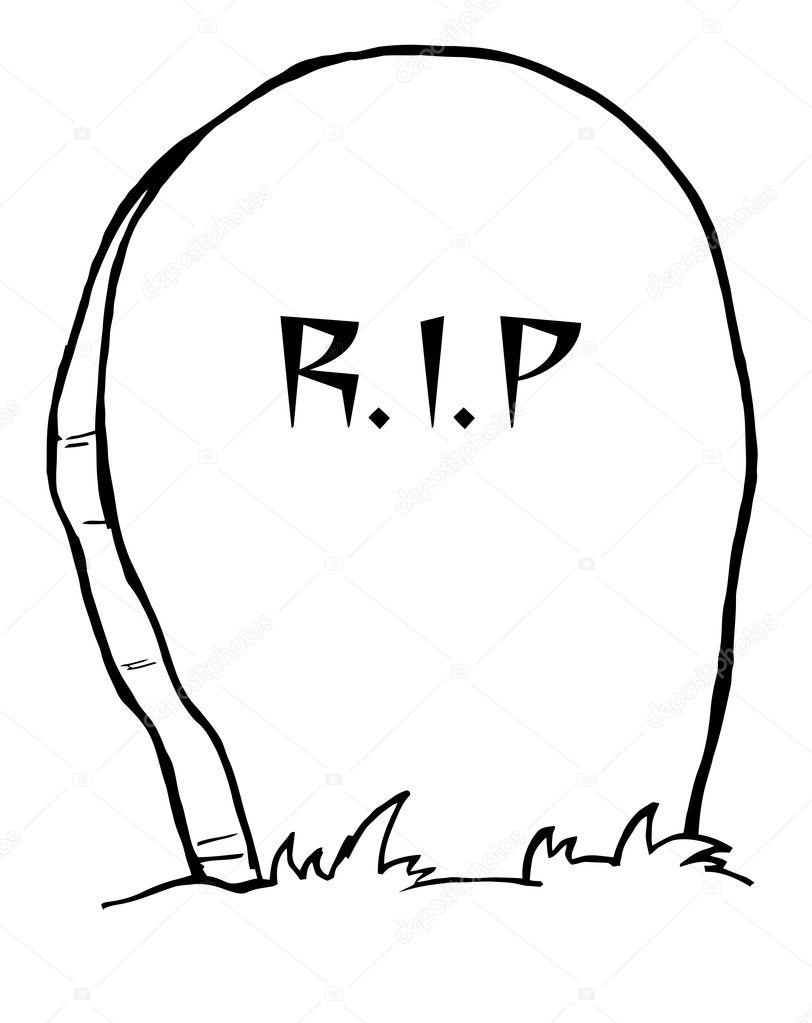 Outlined Tombstone Stock Photo HitToon 4726751
