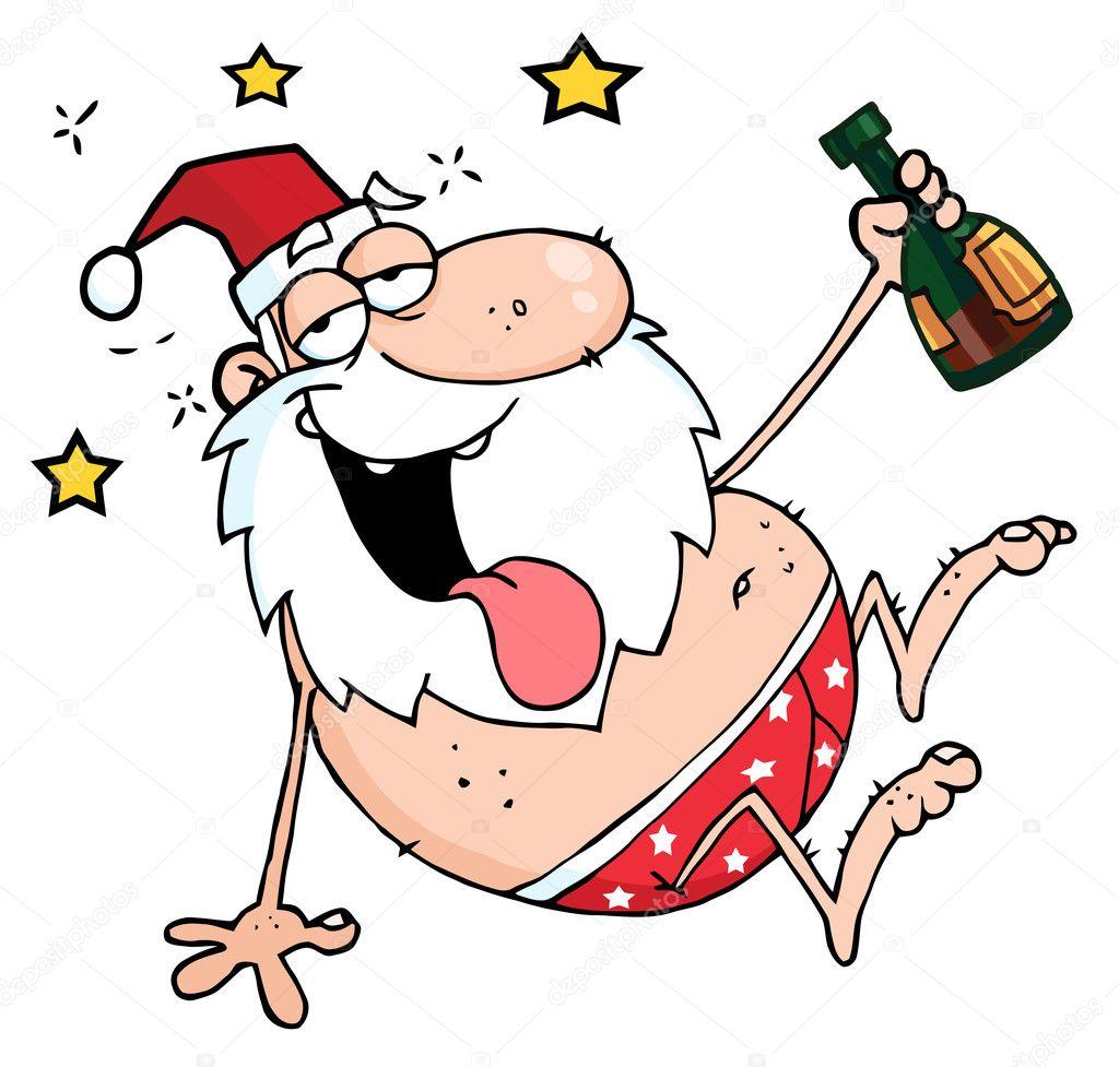 Drunk Santa — Stock Photo © HitToon #4728004
