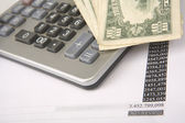 Money on calculator Finance Business Wealth Banking — Stock Photo