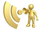 Blog Communication — Stock Photo