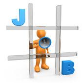 Job Tic Tac Toe — Stock Photo