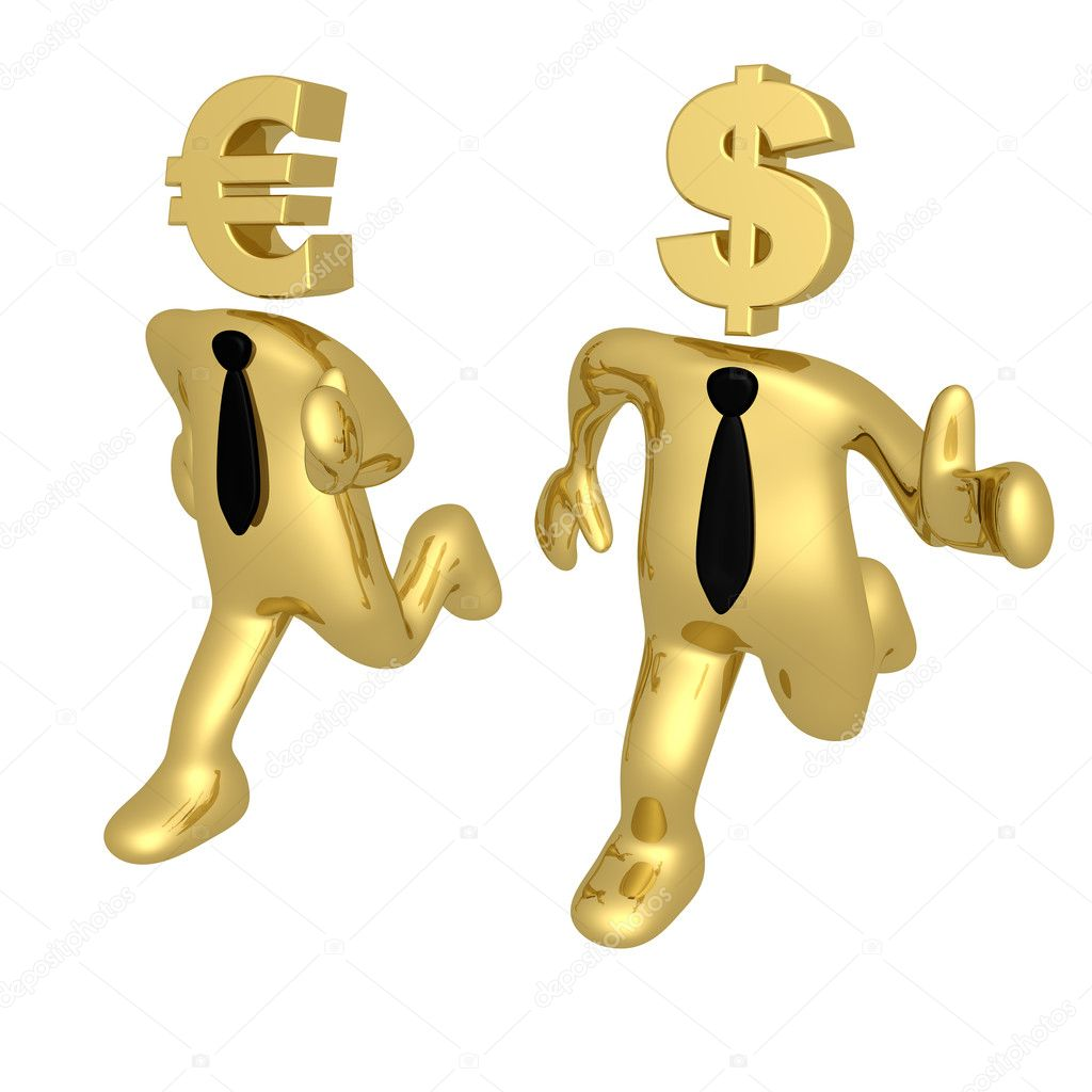 Computer Generated Image - Currency Race .  Stock Photo #5146663