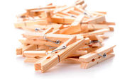 Wooden Clothespins — Stockfoto