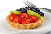 Delicious Glazed Fruit Tart — Stock Photo