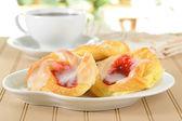 Sweet Cherry Danish — Stock Photo