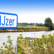 River IJzer, Flanders — Stock Photo