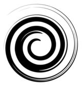 Black and white spiral vector — Stock Vector