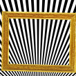 Abstract with golden frame and black and white lines — Stock Photo