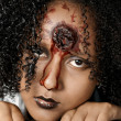 Gory looking woman — Stock Photo #3993709
