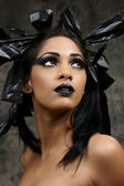 Indian gothic look — Stock Photo