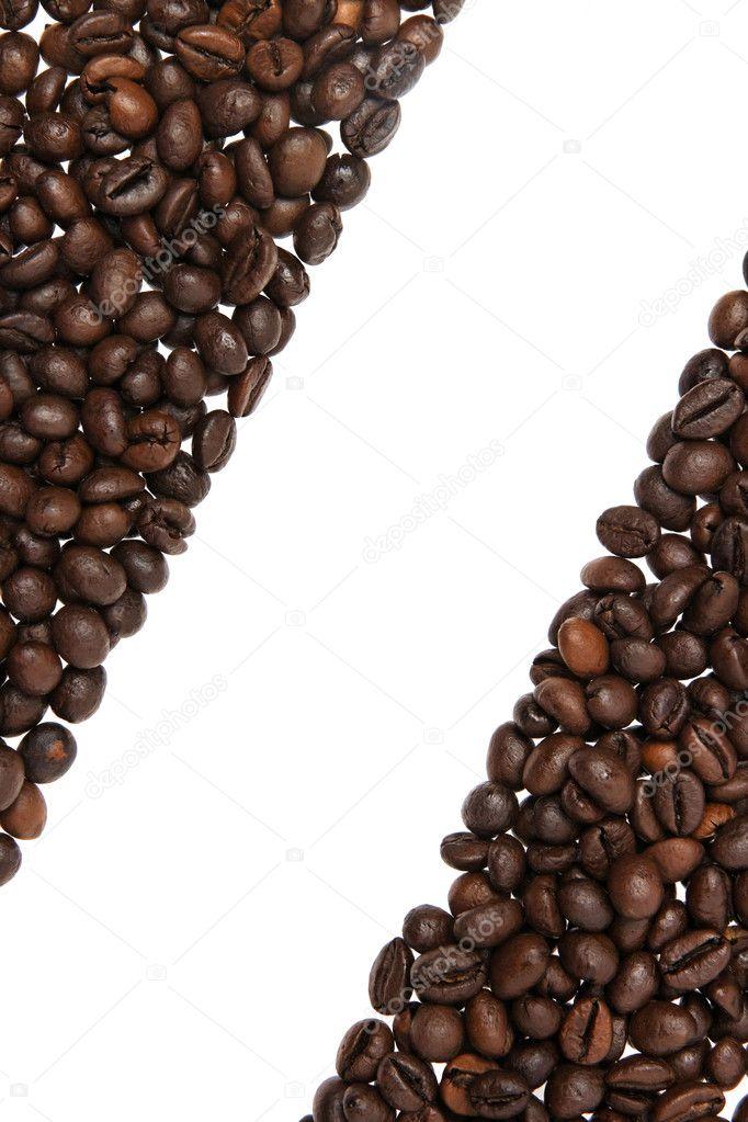 Coffee beans border — Stock Photo © vjotov #4922635