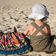 Stock Photo: Child and bag